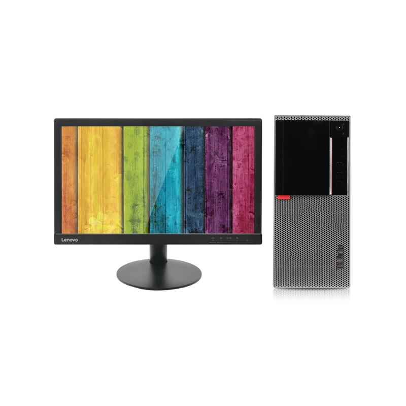 联想Lenovo E96X 台式机电脑租赁(G4900/4G/128G SSD/核显/联想T2055 19.5英寸显示器)