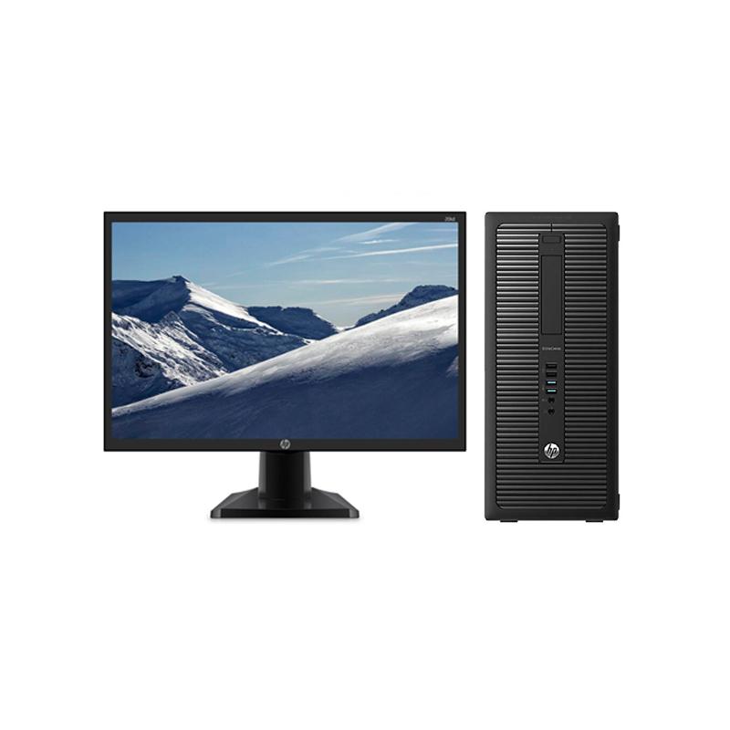 惠普HP 800G2 台式机电脑租赁(【特价】I3-6代/4G/120G SSD/核显/惠普 20英寸显示器)