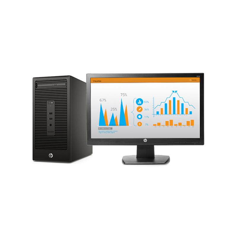 惠普HP 288Pro G2 台式机电脑租赁(双核/4G/120G SSD/核显/G4400/20/1600x900)