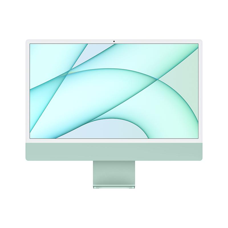 苹果Apple iMac 24英寸一体机电脑 MGPJ3CH/A(Apple M1 8核图形处理器/8G/512G SSD/核显/4.5K/24/MacOS/绿色)