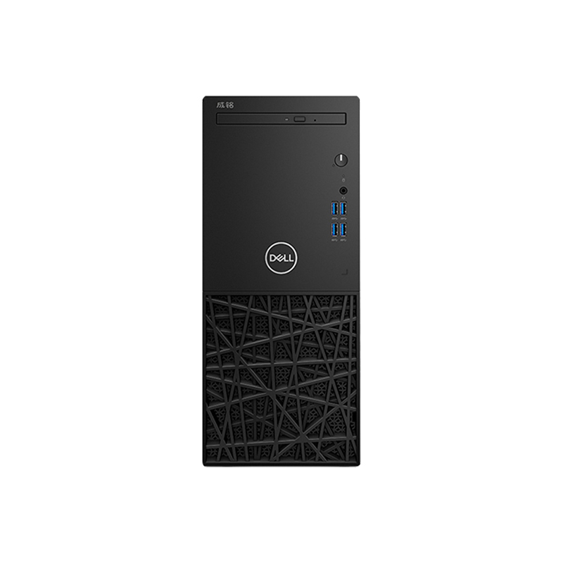戴尔Dell 成铭3991 台式机电脑租赁(I3-10100/8G/256G SSD/核显/联想TE22-11 21.5英寸显示器)