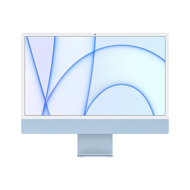 苹果Apple iMac 24英寸一体机电脑 MJV93CH/A(Apple M1 7核图形处理器/8G/256G SSD/核显/4.5K/24/MacOS/蓝色)