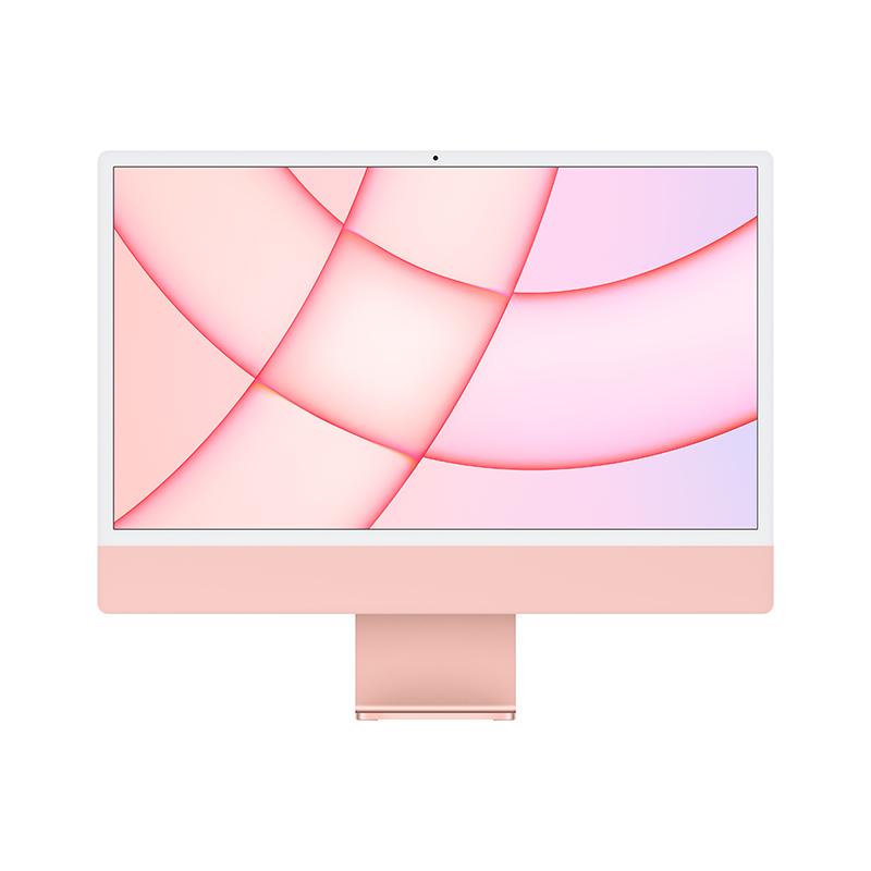 苹果Apple iMac 24英寸一体机电脑 MGPM3CH/A(Apple M1 8核图形处理器/8G/256G SSD/核显/4.5K/24/MacOS/粉色)