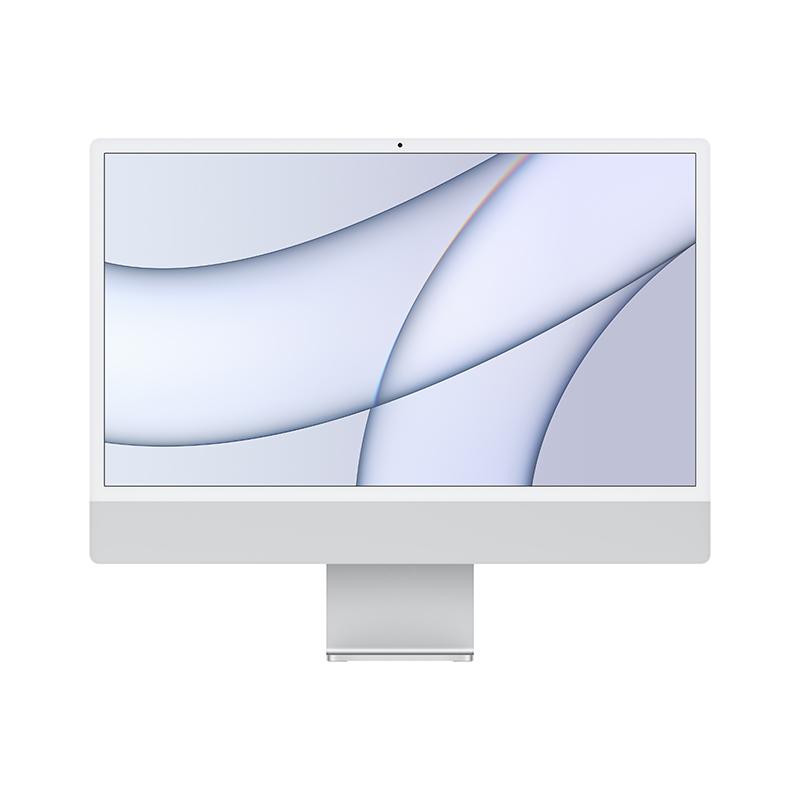 苹果Apple iMac 24英寸一体机电脑 MGPD3CH/A(Apple M1 8核图形处理器/8G/512G SSD/核显/4.5K/24/MacOS/银色)